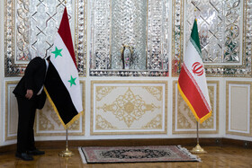 On the sidelines of the meeting between Iranian Foreign Minister, Mohammad Javad Zarif, and his Syrian counterpart, Faisal Mekdad, in Tehran, Iran, December 7, 2020.