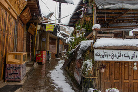 The autumn snow covers the historic village of Masuleh, Gilan, Iran, December 7, 2020.
