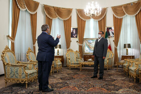 The meeting between Ali Shamkhani (right), the secretary of the Supreme National Security Council of Iran, and Syrian Foreign Minister, Faisal Mekdad, in Tehran, Iran, December 8, 2020.