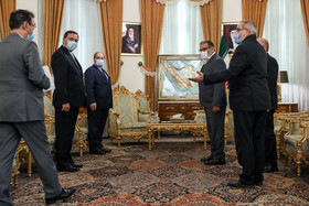 On the sidelines of the meeting between Ali Shamkhani, the secretary of the Supreme National Security Council of Iran, and Syrian Foreign Minister, Faisal Mekdad, in Tehran, Iran, December 8, 2020.
