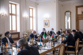 The meeting between the Minister of Foreign Affairs of Azerbaijan, Jeyhun Bayramov, and Iranian Foreign Minister, Mohammad Javad Zarif, Tehran, Iran, December 9, 2020.