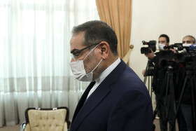 The secretary of Iran's Supreme Council of National Security, Ali Shamkhani, is seen before the beginning of his meeting with the Minister of Foreign Affairs of Azerbaijan, Jeyhun Bayramov, in Tehran, Iran, December 9, 2020.