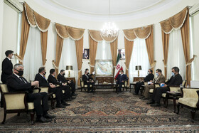 The meeting between the secretary of Iran's Supreme Council of National Security, Ali Shamkhani, and the Minister of Foreign Affairs of Azerbaijan, Jeyhun Bayramov, in Tehran, Iran, December 9, 2020.