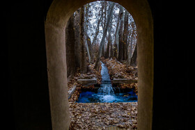 Pahlavanpur Garden is seen in the photo, Yazd, Iran, December 17, 2020. The garden, which is five hectares in extent, features a beautiful building.