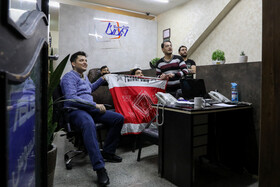 Watching the final match of the Asian Champions League, Tehran, Iran, December 19, 2020.