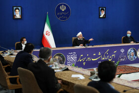 A ceremony is held in the presence of Iranian President, Hassan Rouhani, to mark the National Nurses Day, Tehran, Iran, December 20, 2020.