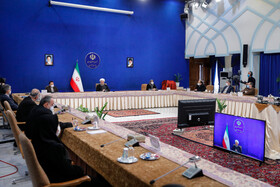The meeting of the Constitutional Law and Citizenship Rights is held in the presence of Iranian President, Hassan Rouhani, Tehran, Iran, December 21, 2020.
