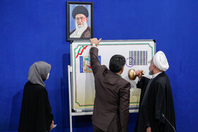 On the sidelines of the meeting of the Constitutional Law and Citizenship Rights held in the presence of Iranian President, Hassan Rouhani, Tehran, Iran, December 21, 2020.