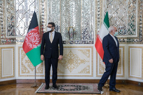 Iranian Foreign Minister, Mohammad Javad Zarif, is seen before the beginning of his meeting with Afghanistan's National Security Adviser, Hamdullah Mohib, in Tehran, Iran, December 22, 2020.