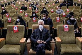 Iran's Minister of Science, Research and Technology, Mansour Gholami, is seen during the third festival of women and science, Tehran, Iran, December 26, 2020.