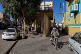 Azar neighborhood is seen in the photo, Qom, Iran, January 2, 2021. The neighborhood is an old part of Qom city featuring most historical places of the city. Azar neighborhood, which has a dense texture with narrow alleys, played a central role during the demonstrations against the Pahlavi regime before the Islamic Revolution.