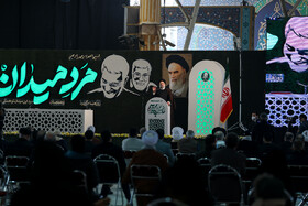 The commemoration ceremony of the 1st martyrdom anniversary of Lieutenant General Qassem Soleimani, Tehran, Iran, January 1, 2021.