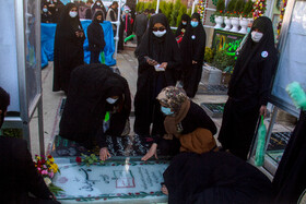 The atmosphere of the resting place of Lieutenant General Qasem Soleimani ahead of his first martyrdom anniversary, Kerman, Iran, January 1, 2021.