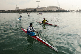 Canoe and Kayak racers compete in Iran's league, Tehran, Iran, January 4, 2021.