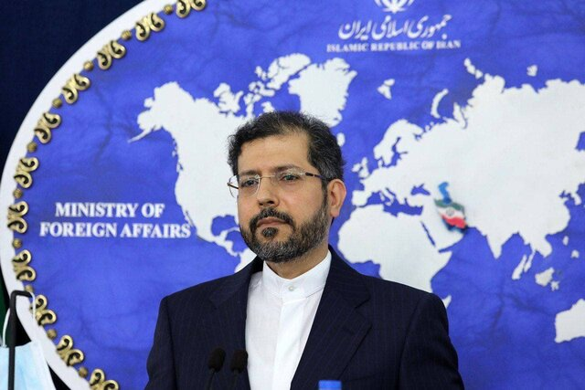 "Iranian merchant ship ""Saviz"" sustains minor damage due to explosion: Khatibzadeh"