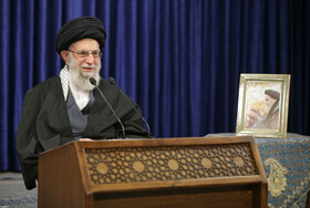 Iran's Supreme Leader Ayatollah Ali Khamenei delivers a speech on the anniversary of the people of Qom's uprising against the Pahlavi regime, Iran, January 8, 2021.