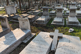 Doulab Cemetery, one of the most important Christian cemeteries, is seen in the photo, Tehran, Iran, January 9, 2021.