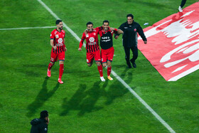 The Tehran derby match is played between Esteghlal FC (Blue kit) and Persepolis FC, Tehran, Iran, January 11, 2021.  The teams drew two-two.