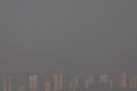 Air pollution in Tehran, Iran, January 12, 2021. The average concentration of hazardous airborne particles hit 180 micrograms per cubic meter on Tuesday, January 12, in Tehran.