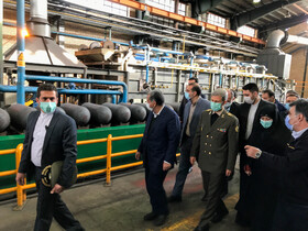 The opening ceremony of the largest CNG tanks production plant in West Asia, Qazvin, Iran, February 8, 2021.