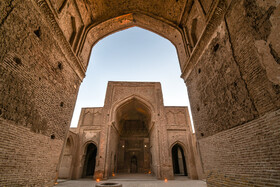 The historical Jameh Mosque of Forumad, Semnan, Iran, February 16, 2021.