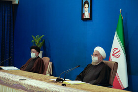 The meeting of the Supreme Council of Cyberspace is held in the presence of Iran's senior officials in Tehran, Iran, February 16, 2021.