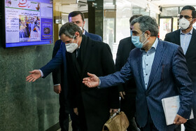 The Director-General of the International Atomic Energy Agency Rafael Grossi is seen before he meets with the head of the Atomic Energy Organization of Iran Ali Akbar Salehi, Tehran, Iran, February 21, 2021.