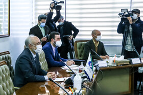 The meeting between the Director-General of the International Atomic Energy Organization Rafael Grossi and the head of the Atomic Energy Organization of Iran Ali Akbar Salehi, Tehran, Iran, February 21, 2021.