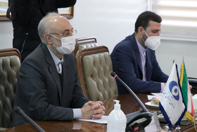 The head of the Atomic Energy Organization of Iran Ali Akbar Salehi is seen during his meeting with the Director-General of the International Atomic Energy Agency Rafael Grossi, Tehran, Iran, February 21, 2021.