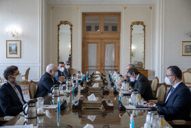 The meeting between the Director-General of the International Atomic Energy Agency (IAEA) Rafael Grossi and Iranian Foreign Minister Mohammad Javad Zarif, Tehran, Iran, February 21, 2021.