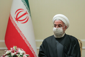 Iranian President, Hassan Rouhani, is seen before he meets with new ambassadors, Tehran, Iran, February 24, 2021.