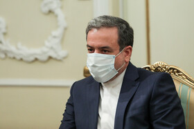 Deputy Foreign Minister, Abbas Araghchi, is seen on the sidelines of the meetings between new ambassadors to Tehran and Iranian President, Tehran, Iran, February 24, 2021.