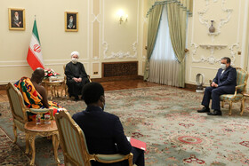 The meeting between Ghana's new ambassador to Tehran, Eric Owusu-Boateng, and Iranian President, Hassan Rouhani, Tehran, Iran, February 24, 2021.