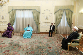 The meeting between Senegal's new ambassador to Tehran, Saliou Niang Dieng, and Iranian President, Hassan Rouhani, Tehran, Iran, February 24, 2021.