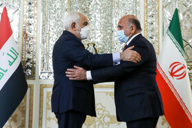 The meeting between Iraqi Foreign Minister Fuad Hussein and Iranian Foreign Minister Mohammad Javad Zarif, Tehran, Iran, February 27, 2021.