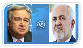 Iran FM Zarif, UN Secretary General discuss Yemen peace