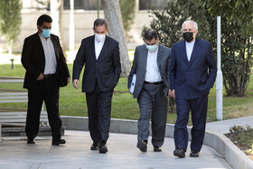 Iran's senior officials are seen after the meeting of Cabinet Ministers, Tehran, Iran, March 3, 2021.