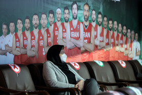 On the sidelines of the third-place play-off match of Iran women's pro basketball league, Tehran, Iran, March 4, 2021.