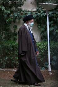 Iran's Supreme Leader Ayatollah Ali Khamenei is seen before delivering a speech on the occasion of the National Week of Natural Resources, Tehran, Iran, March 5, 2021.