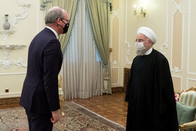 The meeting between Irish Foreign Minister, Simon Coveney, and Iranian President, Hassan Rouhani, Tehran, Iran, March 7, 2021.
