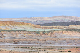 Colorful deserts of Semnan, Iran, March 27, 2021.