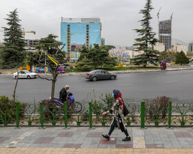 Vanak Square during the Nowruz holidays, Tehran, Iran, March 31, 2021.