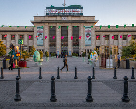 Railway Square during the Nowruz holidays, Tehran, Iran, March 31, 2021.