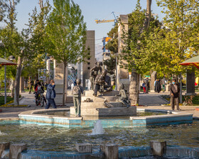 Nabovvat Square during the Nowruz holidays, Tehran, Iran, March 31, 2021.