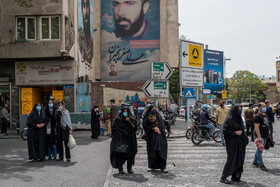 Tehran is on a very high Covid-19 alert level due to a massive surge in coronavirus cases, Iran, April 6, 2021.