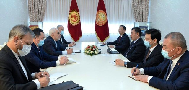 Foreign Minister Zarif meets with Kyrgyz President in Bishkek