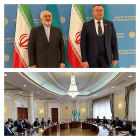 Iranian FM Zarif meets with his Kazakh counterpart