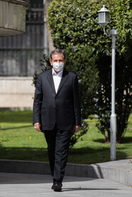 First Vice-President Es'haq Jahangiri is seen after the end of the meeting of Cabinet Ministers, Tehran, Iran, April 7, 2021.