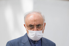 Ali Akbar Salehi, the head of Iran's Atomic Energy Organization, is seen on the sidelines of the meeting of Cabinet Ministers, Tehran, Iran, April 7, 2021.