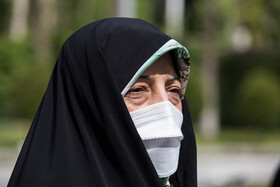Vice President for Women and Family Affairs Masoumeh Ebtekar is seen after the end of the meeting of Cabinet Ministers, Tehran, Iran, April 7, 2021.